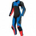 Mono Dainese Assen 2 1pc perf. Leather suit BLACK/LIGHT-BLUE/FLUO-RED